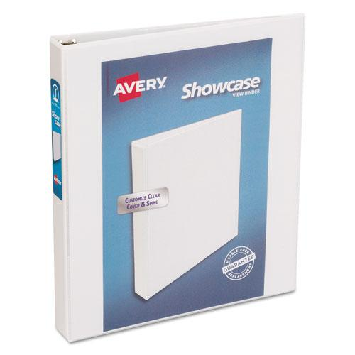 "Showcase Economy View Binder with Round Rings, 3 Rings, 1"" Capacity, 11 x 8.5, White. Picture 1"