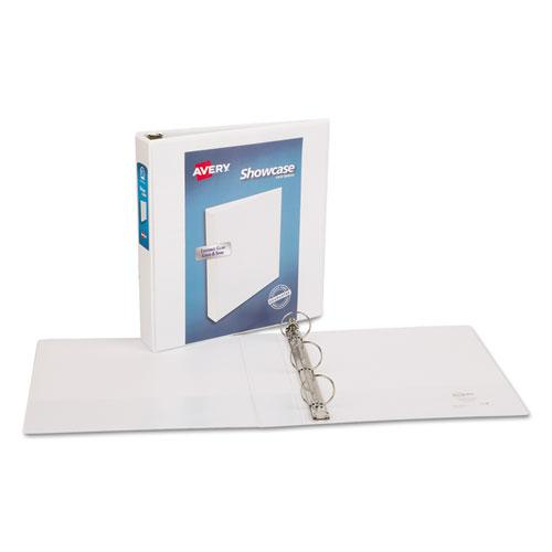"""Showcase Economy View Binder with Round Rings, 3 Rings, 1.5"""" Capacity, 11 x 8.5, White. Picture 6"""
