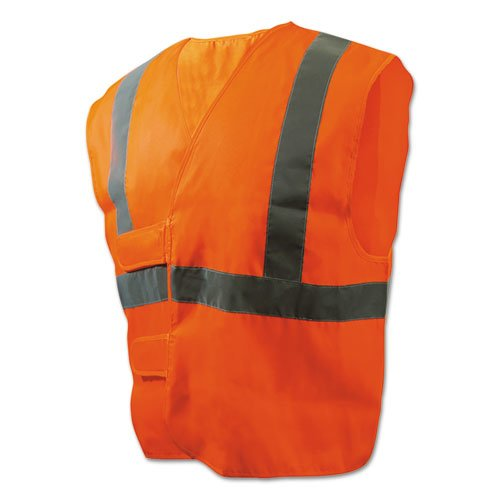 Class 2 Safety Vests, Orange/Silver, Standard. Picture 1