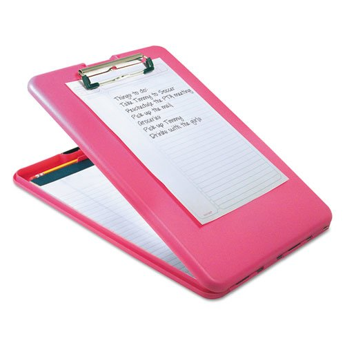 """SlimMate Storage Clipboard, 1/2"""" Clip Capacity, Holds 8 1/2 x 11 Sheets, Pink. Picture 3"""