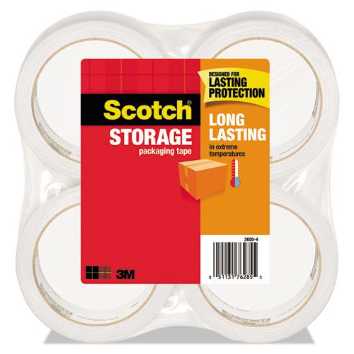 """Storage Tape, 3"""" Core, 1.88"""" x 54.6 yds, Clear, 4/Pack. Picture 1"""