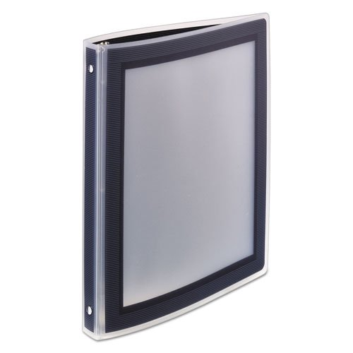 """Flexi-View Binder with Round Rings, 3 Rings, 0.5"""" Capacity, 11 x 8.5, Black. Picture 7"""