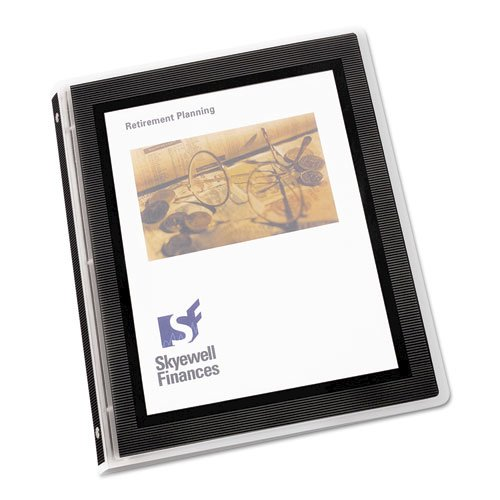 """Flexi-View Binder with Round Rings, 3 Rings, 0.5"""" Capacity, 11 x 8.5, Black. Picture 8"""