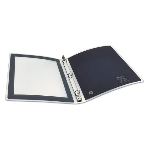 """Flexi-View Binder with Round Rings, 3 Rings, 0.5"""" Capacity, 11 x 8.5, Black. Picture 9"""