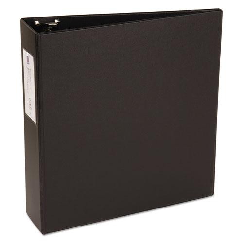 """Economy Non-View Binder with Round Rings, 3 Rings, 3"""" Capacity, 11 x 8.5, Black, (4601). Picture 3"""
