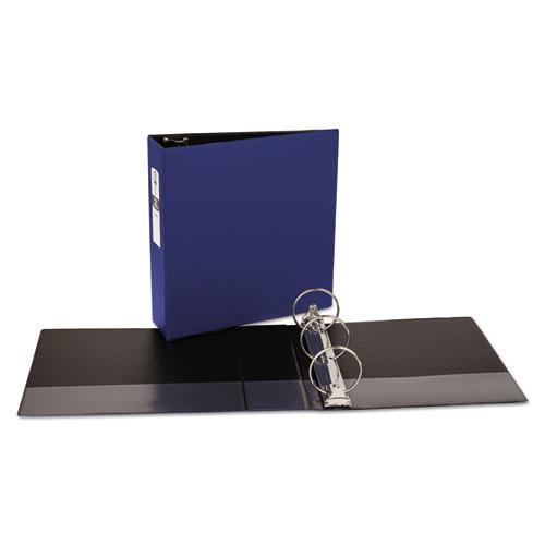 "Economy Non-View Binder with Round Rings, 3 Rings, 3"" Capacity, 11 x 8.5, Blue, (3601). Picture 5"