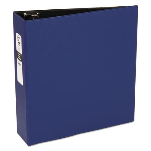 "Economy Non-View Binder with Round Rings, 3 Rings, 3"" Capacity, 11 x 8.5, Blue, (3601). Picture 1"