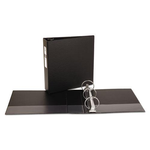 "Economy Non-View Binder with Round Rings, 3 Rings, 3"" Capacity, 11 x 8.5, Black, (3602). Picture 4"