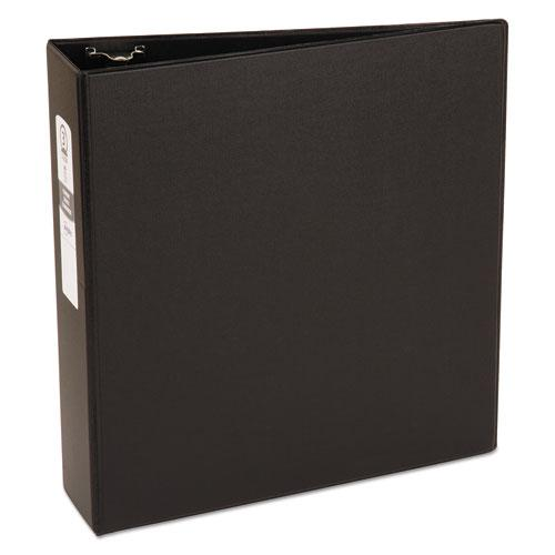 "Economy Non-View Binder with Round Rings, 3 Rings, 3"" Capacity, 11 x 8.5, Black, (3602). Picture 1"