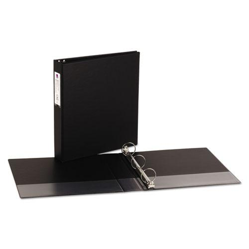 "Economy Non-View Binder with Round Rings, 3 Rings, 1.5"" Capacity, 11 x 8.5, Black, (4401). Picture 5"
