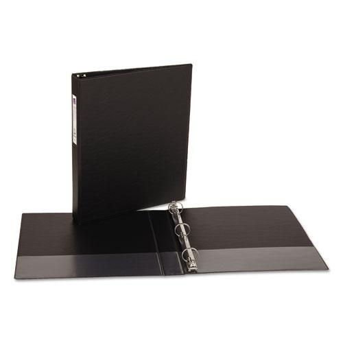 """Economy Non-View Binder with Round Rings, 3 Rings, 1"""" Capacity, 11 x 8.5, Black, (4301). Picture 5"""