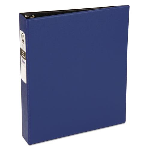 "Economy Non-View Binder with Round Rings, 3 Rings, 1.5"" Capacity, 11 x 8.5, Blue, (3400). The main picture."