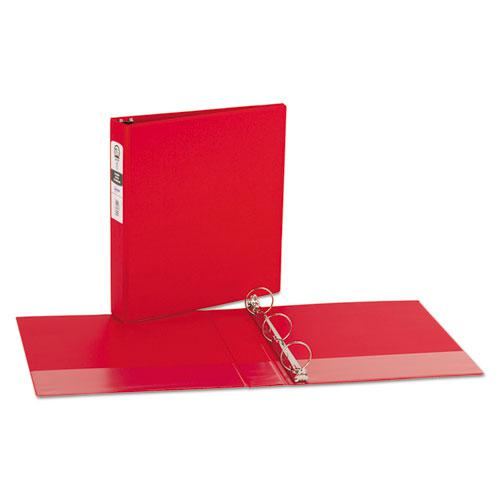 "Economy Non-View Binder with Round Rings, 3 Rings, 1.5"" Capacity, 11 x 8.5, Red, (3410). Picture 6"