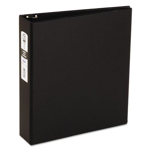 """Economy Non-View Binder with Round Rings, 3 Rings, 2"""" Capacity, 11 x 8.5, Black, (3501). Picture 1"""