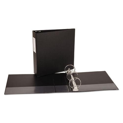 """Economy Non-View Binder with Round Rings, 3 Rings, 3"""" Capacity, 11 x 8.5, Black, (4601). Picture 7"""