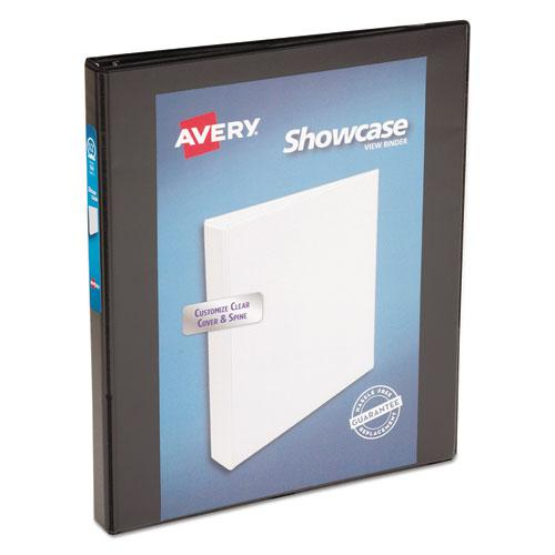 """Showcase Economy View Binder with Round Rings, 3 Rings, 0.5"""" Capacity, 11 x 8.5, Black. Picture 1"""