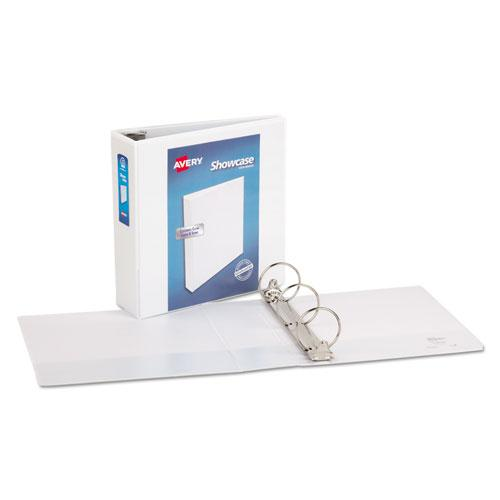 """Showcase Economy View Binder with Round Rings, 3 Rings, 3"""" Capacity, 11 x 8.5, White. Picture 7"""
