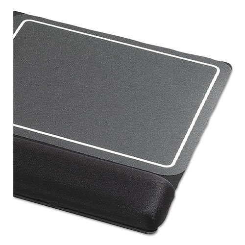 Extended Keyboard Wrist Rest, Memory Foam, Non-Skid Base, 27 x 11 x 1, Black. Picture 6