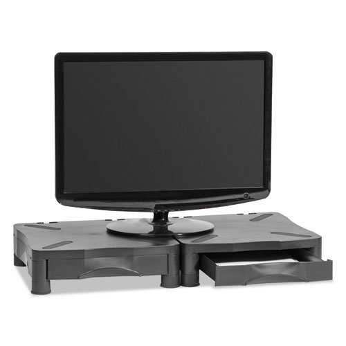 """Monitor Stand, 13.25"""" x 13.5"""" x 2.75"""" to 4"""", Black, Supports 60 lbs. Picture 4"""