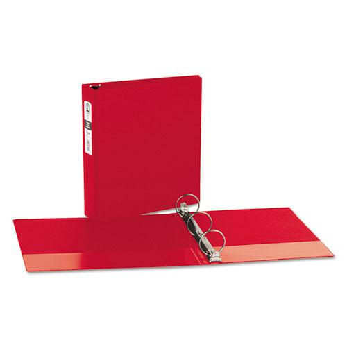 "Economy Non-View Binder with Round Rings, 3 Rings, 2"" Capacity, 11 x 8.5, Red, (3510). Picture 8"