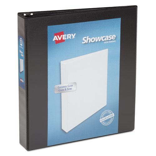 """Showcase Economy View Binder with Round Rings, 3 Rings, 1.5"""" Capacity, 11 x 8.5, Black. Picture 1"""