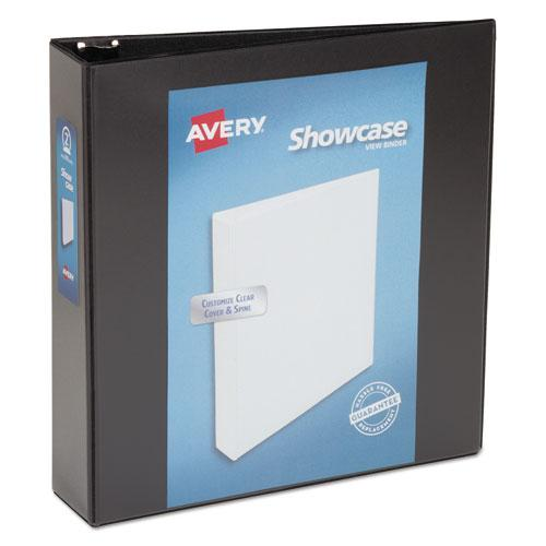 "Showcase Economy View Binder with Round Rings, 3 Rings, 2"" Capacity, 11 x 8.5, Black. Picture 1"