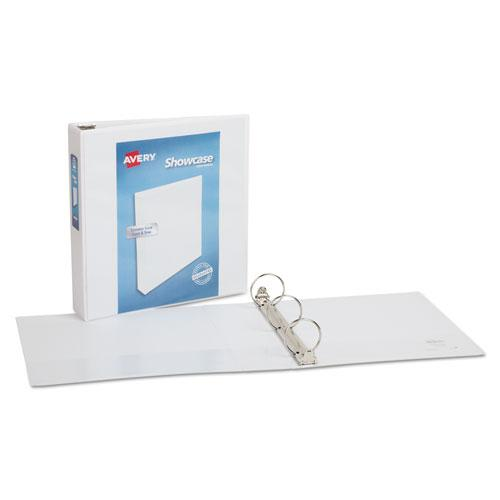 """Showcase Economy View Binder with Round Rings, 3 Rings, 2"""" Capacity, 11 x 8.5, White. Picture 3"""