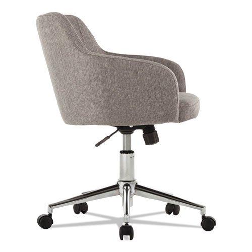 alera captain series mid back chair gray tweed