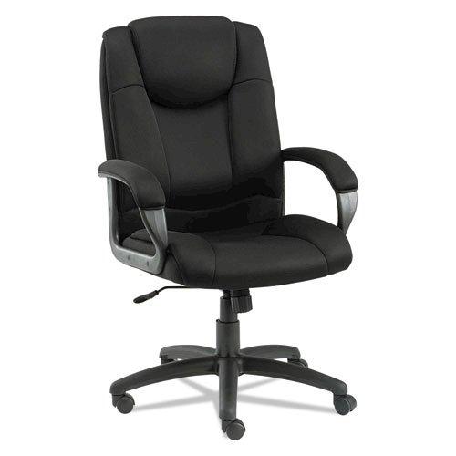Alera Logan Series Mesh High-Back Swivel/Tilt Chair, Supports up to 275 lbs, Black Seat/Black Back, Black Base. Picture 1