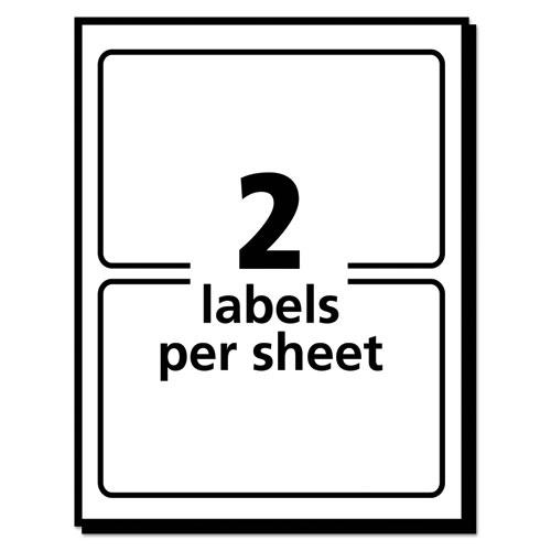 Vibrant Laser Color-Print Labels w/ Sure Feed, 4 3/4 x 7 3/4, White, 50/Pack. Picture 4