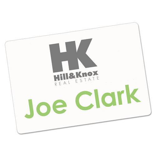 Printable Adhesive Name Badges, 3.38 x 2.33, White, 100/Pack. Picture 1