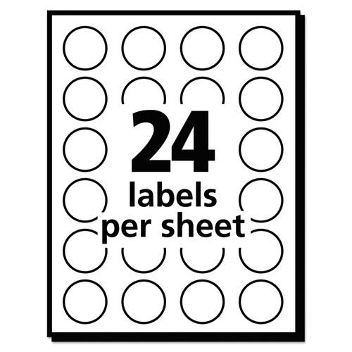 """Printable Self-Adhesive Removable Color-Coding Labels, 0.75"""" dia., Neon Red, 24/Sheet, 42 Sheets/Pack, (5467). Picture 3"""