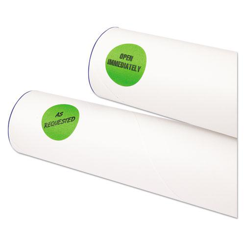 """Printable Self-Adhesive Removable Color-Coding Labels, 1.25"""" dia., Neon Green, 8/Sheet, 50 Sheets/Pack, (5498). Picture 2"""