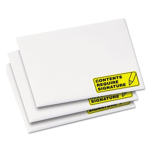 High-Visibility Permanent Laser ID Labels, 1 x 2 5/8, Neon Yellow, 750/Pack. Picture 4