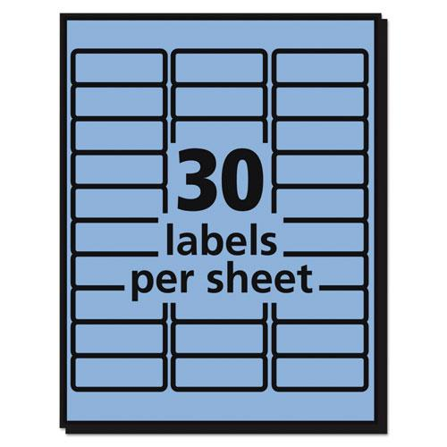 High-Visibility Permanent Laser ID Labels, 1 x 2 5/8, Pastel Blue, 750/Pack. Picture 3