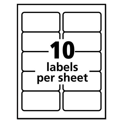 Repositionable Address Labels w/Sure Feed, Inkjet/Laser, 2 x 4, White, 250/Box. Picture 4