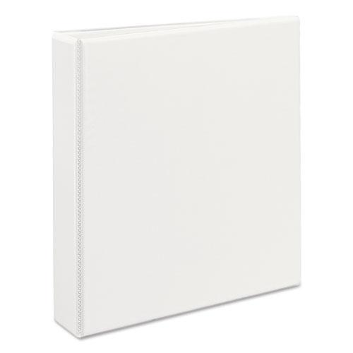 "Heavy-Duty View Binder with DuraHinge and One Touch EZD Rings, 3 Rings, 1.5"" Capacity, 11 x 8.5, White. Picture 3"