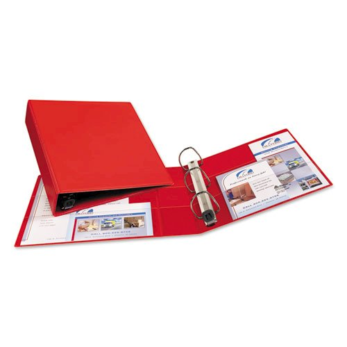 """Heavy-Duty Non-View Binder with DuraHinge and One Touch EZD Rings, 3 Rings, 2"""" Capacity, 11 x 8.5, Red. Picture 4"""