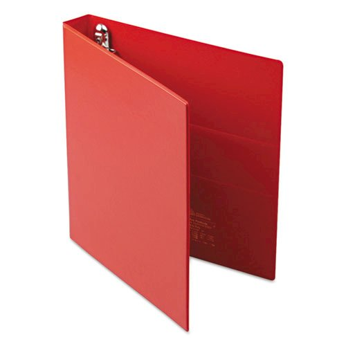 "Heavy-Duty Non-View Binder with DuraHinge and One Touch EZD Rings, 3 Rings, 1"" Capacity, 11 x 8.5, Red. Picture 3"