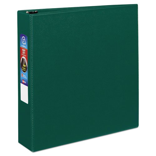 """Heavy-Duty Non-View Binder with DuraHinge and One Touch EZD Rings, 3 Rings, 2"""" Capacity, 11 x 8.5, Green. Picture 1"""