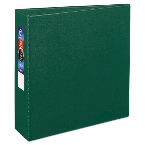 """Heavy-Duty Non-View Binder with DuraHinge and Locking One Touch EZD Rings, 3 Rings, 3"""" Capacity, 11 x 8.5, Green. Picture 1"""
