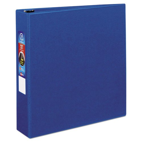 "Heavy-Duty Non-View Binder with DuraHinge and One Touch EZD Rings, 3 Rings, 2"" Capacity, 11 x 8.5, Blue. Picture 1"
