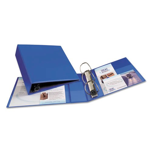 "Heavy-Duty Non-View Binder with DuraHinge and Locking One Touch EZD Rings, 3 Rings, 3"" Capacity, 11 x 8.5, Blue. Picture 4"