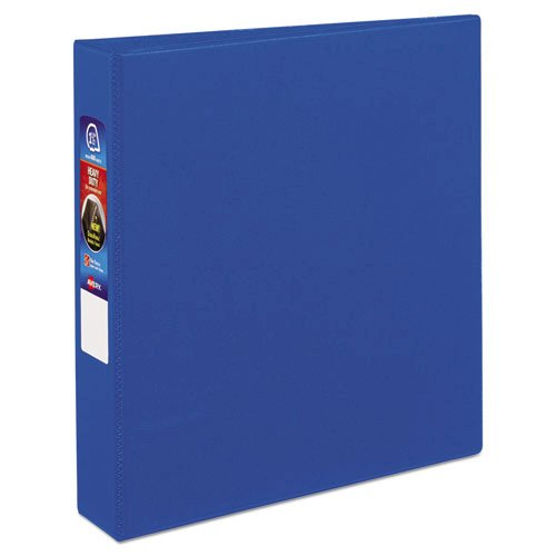 """Heavy-Duty Non-View Binder with DuraHinge and One Touch EZD Rings, 3 Rings, 1.5"""" Capacity, 11 x 8.5, Blue. Picture 1"""