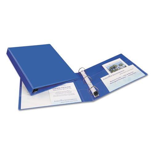 """Heavy-Duty Non-View Binder with DuraHinge and One Touch EZD Rings, 3 Rings, 1"""" Capacity, 11 x 8.5, Blue. Picture 4"""