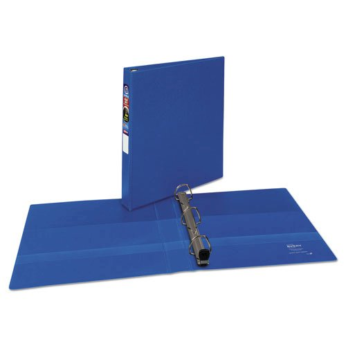 """Heavy-Duty Non-View Binder with DuraHinge and One Touch EZD Rings, 3 Rings, 1"""" Capacity, 11 x 8.5, Blue. Picture 1"""