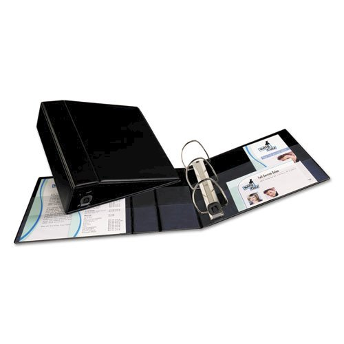 """Heavy-Duty Non-View Binder with DuraHinge and Locking One Touch EZD Rings, 3 Rings, 4"""" Capacity, 11 x 8.5, Black. Picture 4"""