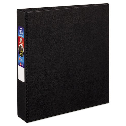 "Heavy-Duty Non-View Binder with DuraHinge and One Touch EZD Rings, 3 Rings, 1.5"" Capacity, 11 x 8.5, Black. Picture 1"