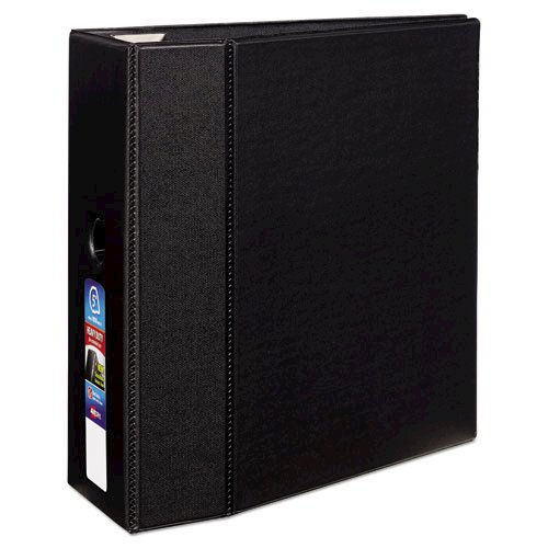 """Heavy-Duty Non-View Binder with DuraHinge, Locking One Touch EZD Rings and Thumb Notch, 3 Rings, 5"""" Capacity, 11 x 8.5, Black. Picture 1"""