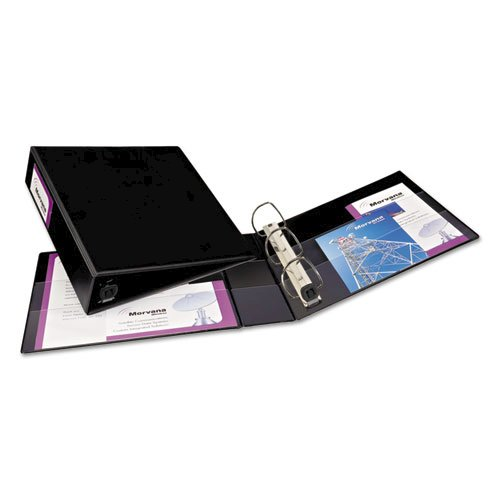 """Heavy-Duty Non-View Binder with DuraHinge and One Touch EZD Rings, 3 Rings, 2"""" Capacity, 11 x 8.5, Black. Picture 4"""